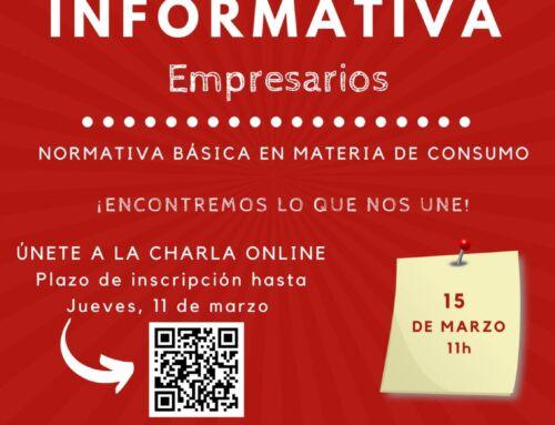 Charla informativa para empresarios el próximo 15 de marzo