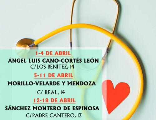 Farmacias de guardia en Campanario para el mes de abril de 2021