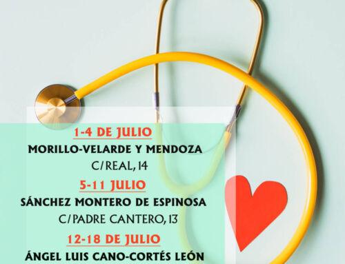Farmacias de guardia en Campanario para el mes de julio de 2021