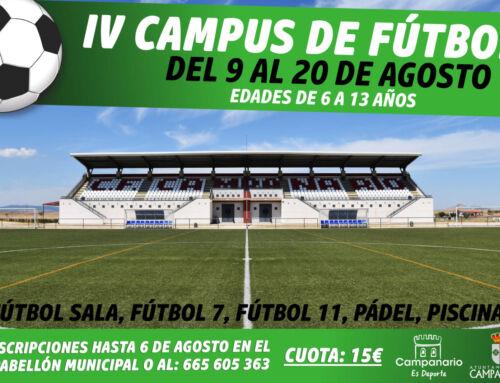 Abierto el plazo de inscripción para la IV edición del Campus de Fútbol de verano