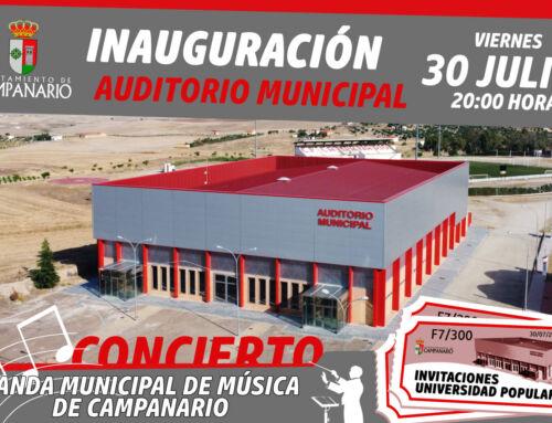 El Auditorio Municipal de Campanario será inaugurado este viernes
