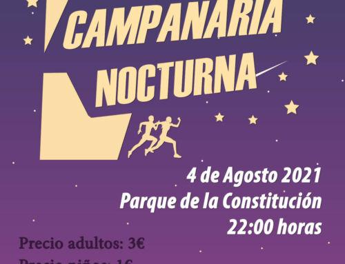 """El próximo miércoles 4 de agosto se celebrará la V Carrera """"Campanaria Nocturna"""""""