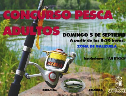 El concurso de pesca para adultos se celebrará el próximo 5 de septiembre