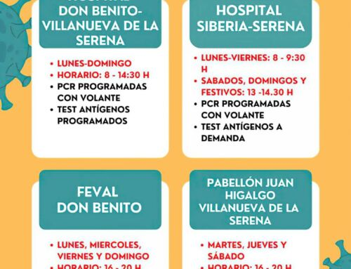 Puntos COVID-19 en nuestra Área de Salud a partir del día 1 de septiembre