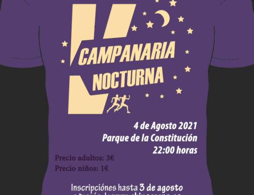 """Últimos dorsales para participar en la V Carrera """"Campanaria Nocturna"""""""