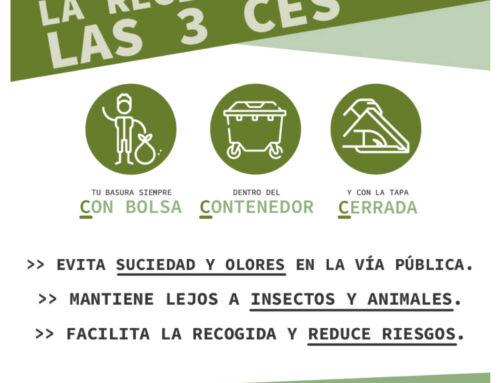 Promedio alerta de la imposibilidad de depositar líquidos y residuos a granel en los contenedores