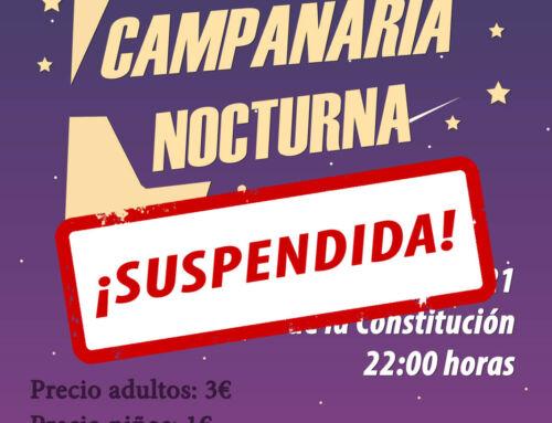 Suspendida la V Carrera 'Campanaria Nocturna'