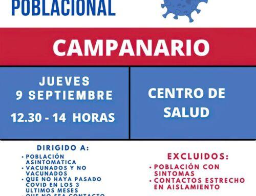 Cribado poblacional en el Centro de Salud de Campanario el próximo 9 de septiembre