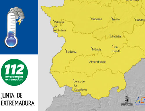 Avisos por tormentas con ocasionales granizadas y rachas de vientos fuertes en toda Extremadura