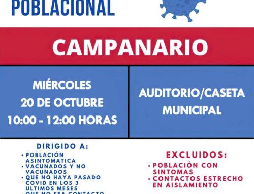 Cribado poblacional en el Centro de Salud de Campanario este miércoles 20 de octubre
